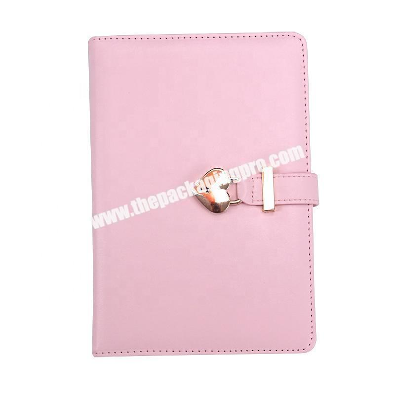 Custom Custom Cute Stationery Refillable Ring Binding Notebooks Gift Set School Office Pu Leather Hardcover Notebook With Box And Pen