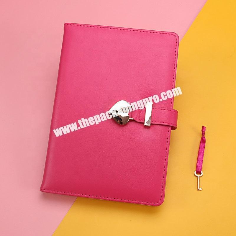 Wholesale Custom Cute Stationery Refillable Ring Binding Notebooks Gift Set School Office Pu Leather Hardcover Notebook With Box And Pen