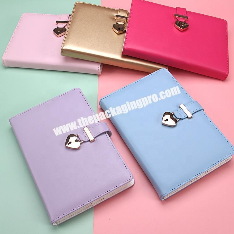 Supplier Custom Cute Stationery Refillable Ring Binding Notebooks Gift Set School Office Pu Leather Hardcover Notebook With Box And Pen