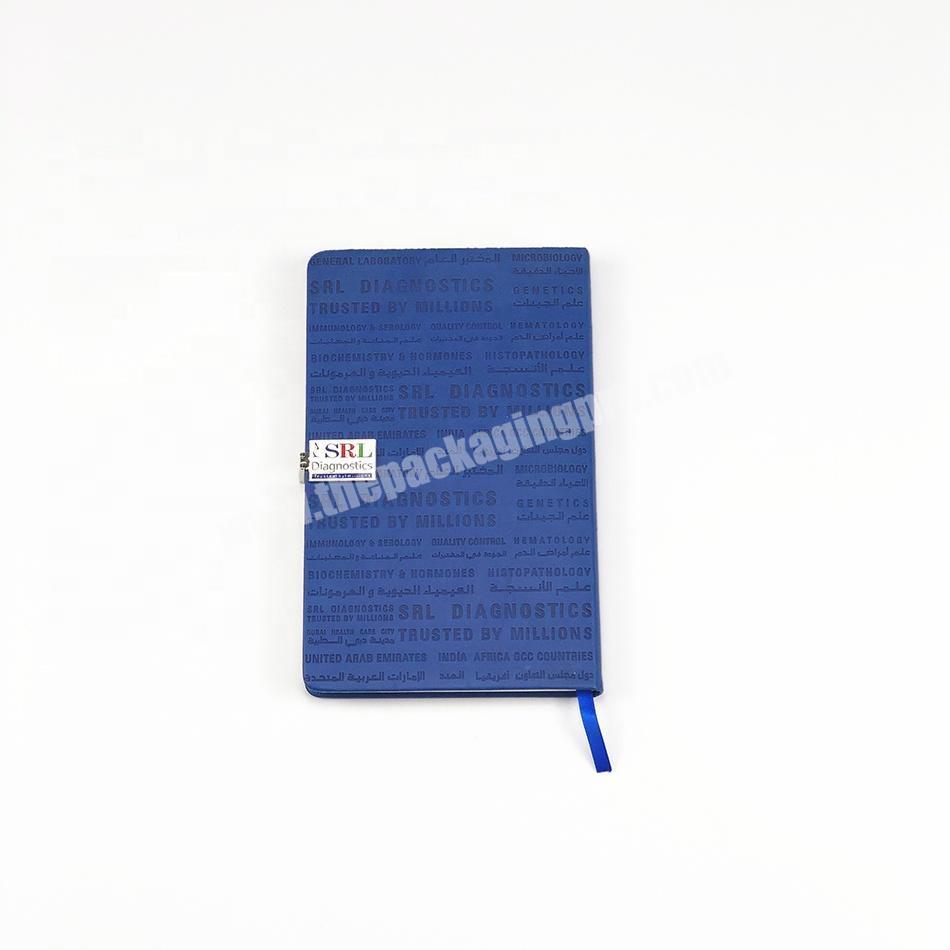 Custom Debossed Logo Metal Buckle Closure Luxury A5 PU Hardcover Writing Notebook