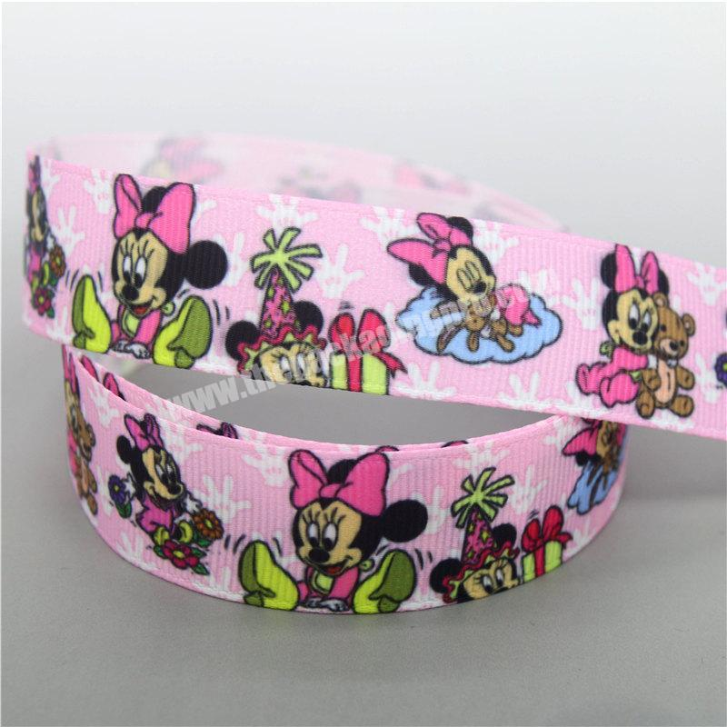 Custom decoration 22mm ribbon printed grosgrain ribbon for clothing