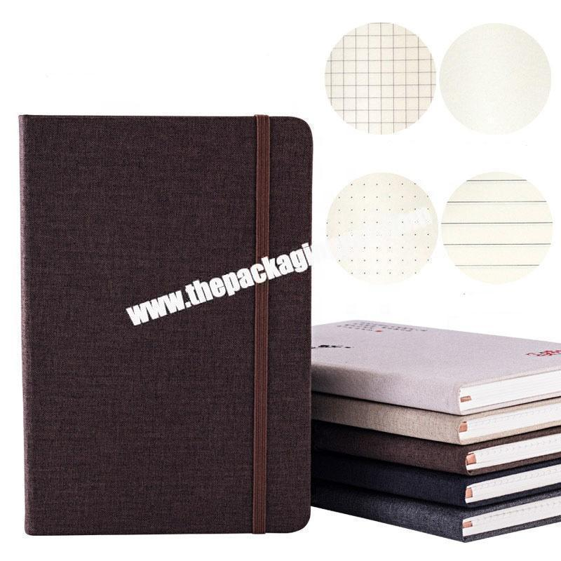 Custom Design 2021 New A5 A6 B5 B6 Dotted Plain Lined Grid Journal Elastic Band Daily Planner Office  Business Agenda Notebook