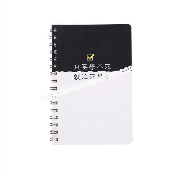 Custom Design Logo Printed A4 A5 A6 B5 Soft Cover Eco Friendly Recycling Paper Notepad Office Journal Coil Spiral Notebook