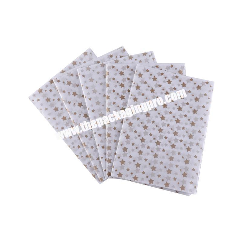 Custom design luxury tissue wrapping paper for clothes