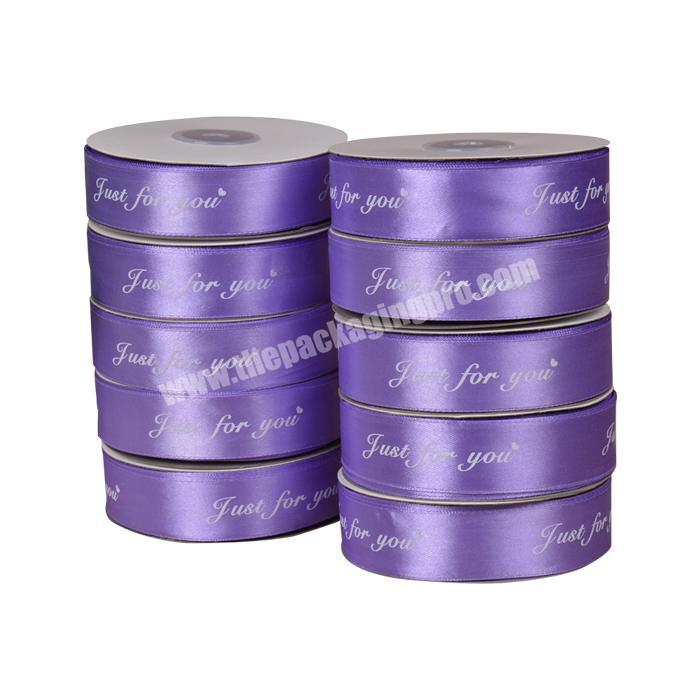 Custom Double Sided Polyester Satin Ribbon Tie