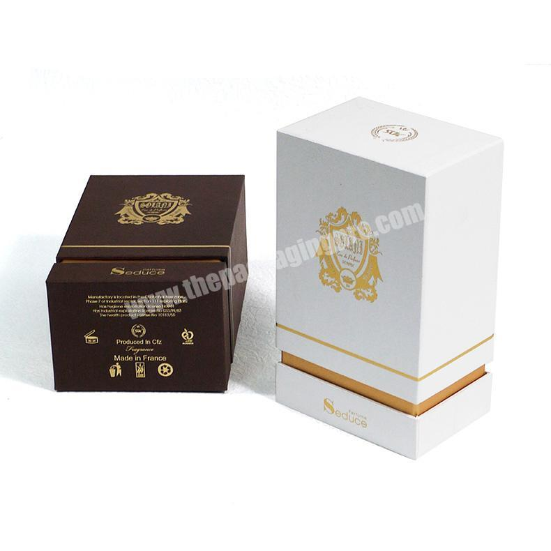Manufacturer Custom embossing and flocking perfume packaging box with eva for perfume bottle