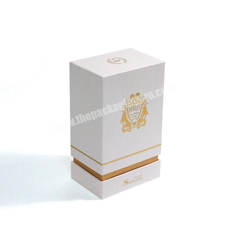 Supplier Custom embossing and flocking perfume packaging box with eva for perfume bottle