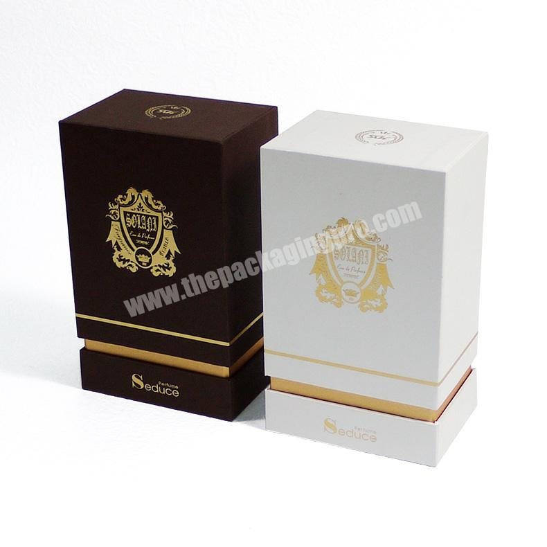 Wholesale Custom embossing and flocking perfume packaging box with eva for perfume bottle