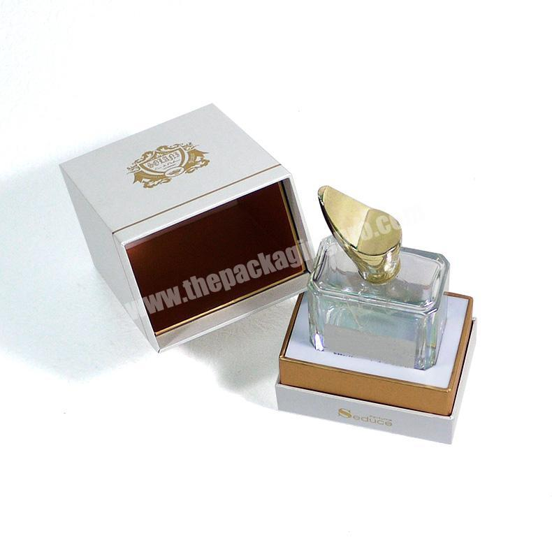 Shop Custom embossing and flocking perfume packaging box with eva for perfume bottle
