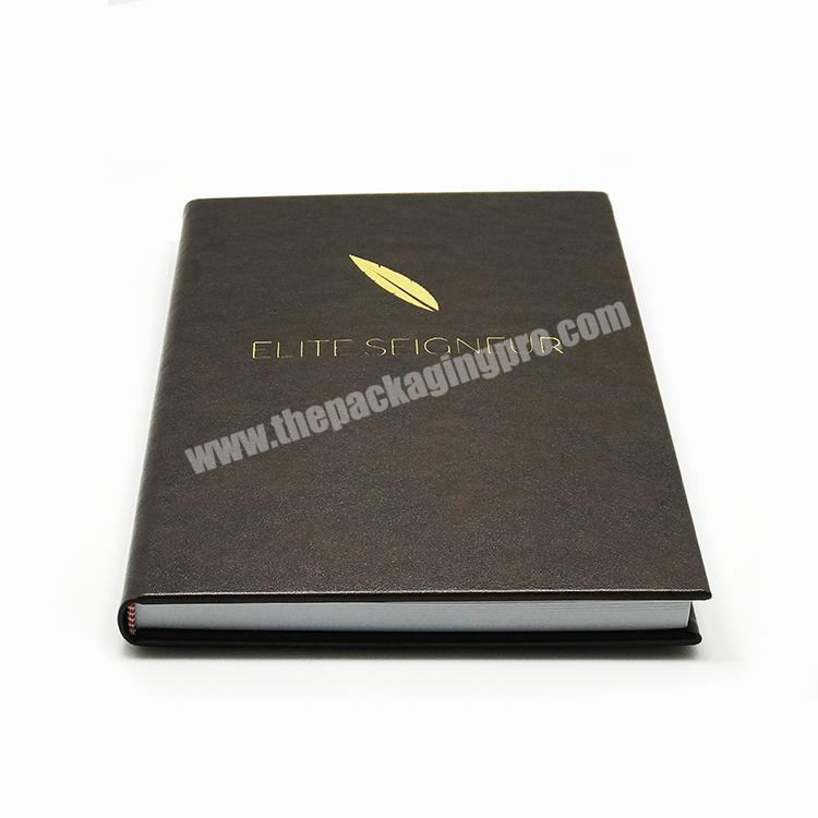 Custom Fancy High Quality Soft Cover Leather Office Exercise Lined Notebook Vintage