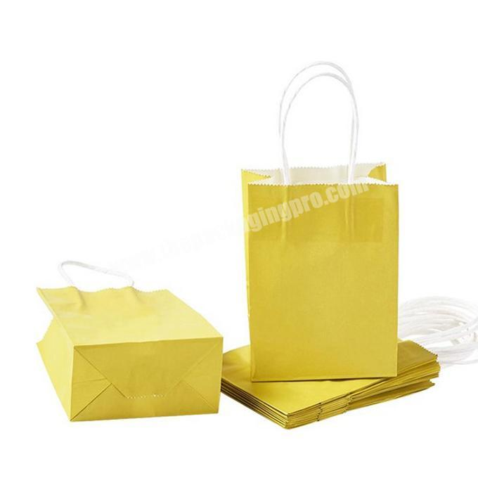 Custom foldable Rectangle Kraft Paper Bags Package Gift Bag Shopping Bags Wedding Party with Nylon Cord Handles