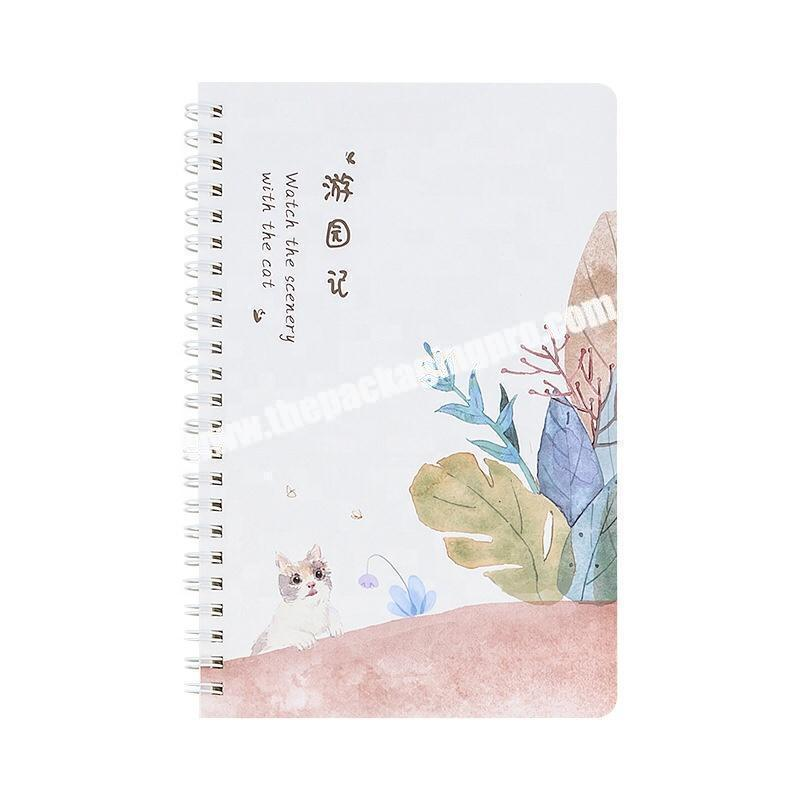 Custom Full Color Printing Cheap Coil Diary Business Office Journal School University Student Exercise Spiral Notebook