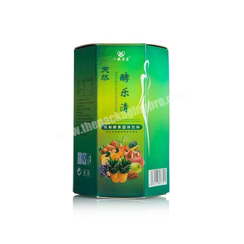 custom full color printing paper packaging beverage boxes