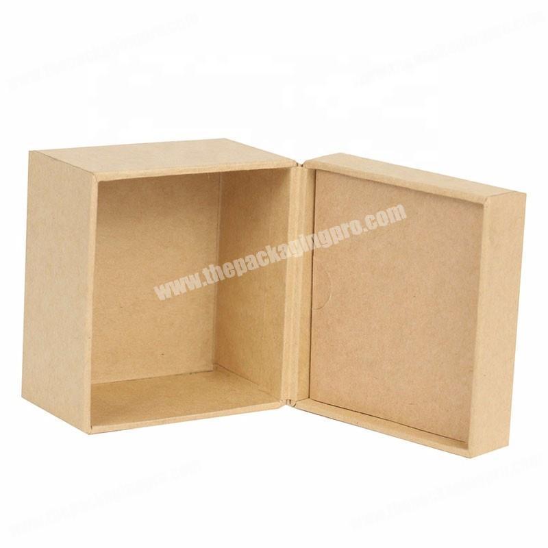 Custom handmade luxury kraft paper printing hot stamping LOGO lid off tea packaging box with lid