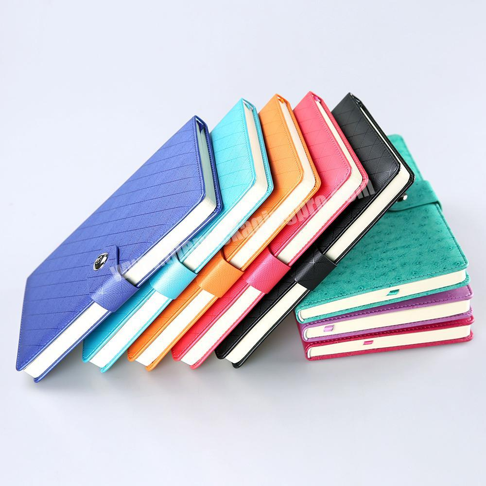 Custom Hardcover A5 Fabric Office Note Book Undated Lined Paper Diary Writing Notebook