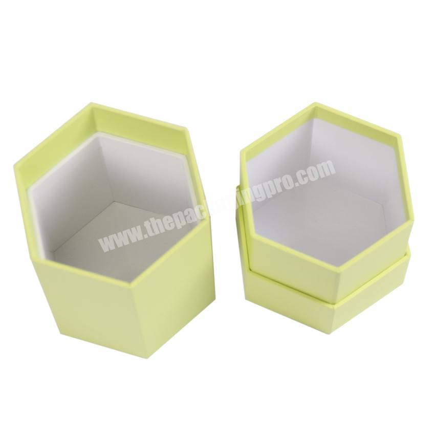 Wholesale Custom hexagon gift boxes for candle packaging candle packing boxes lid and bottom candle box
