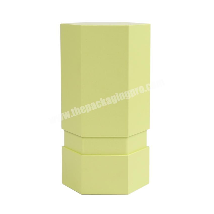 Factory Custom hexagon gift boxes for candle packaging candle packing boxes lid and bottom candle box
