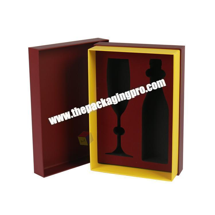 custom high quality rectangle wine gift box packaging