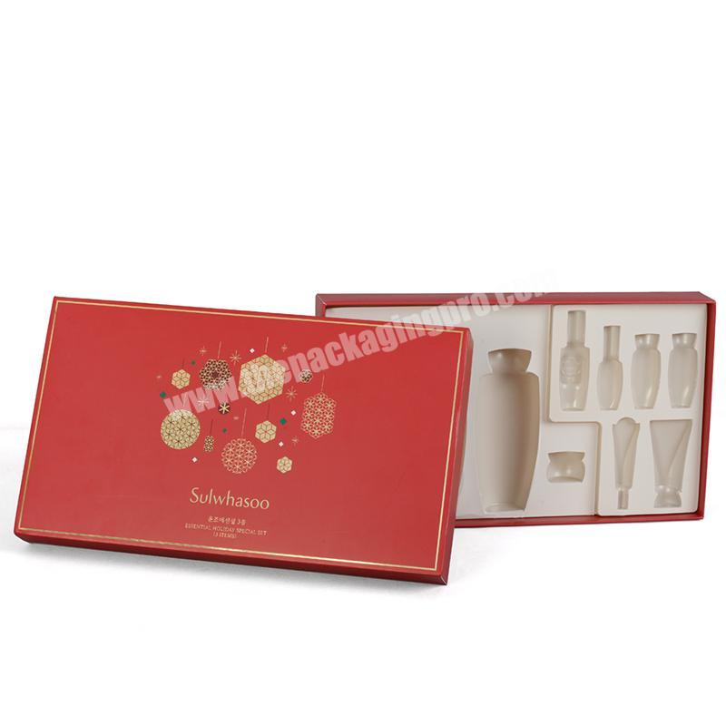 Custom insert paper box retail packaging boxes for cosmetic set jar 30ml glass bottles