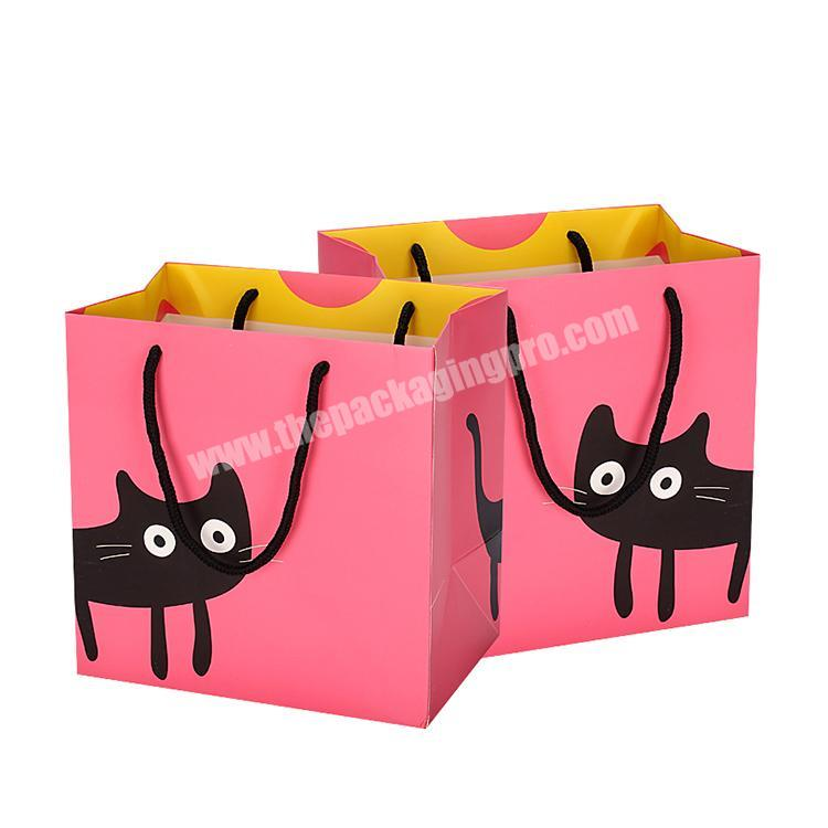 Custom kraft paper bag with printing for gift box packaging