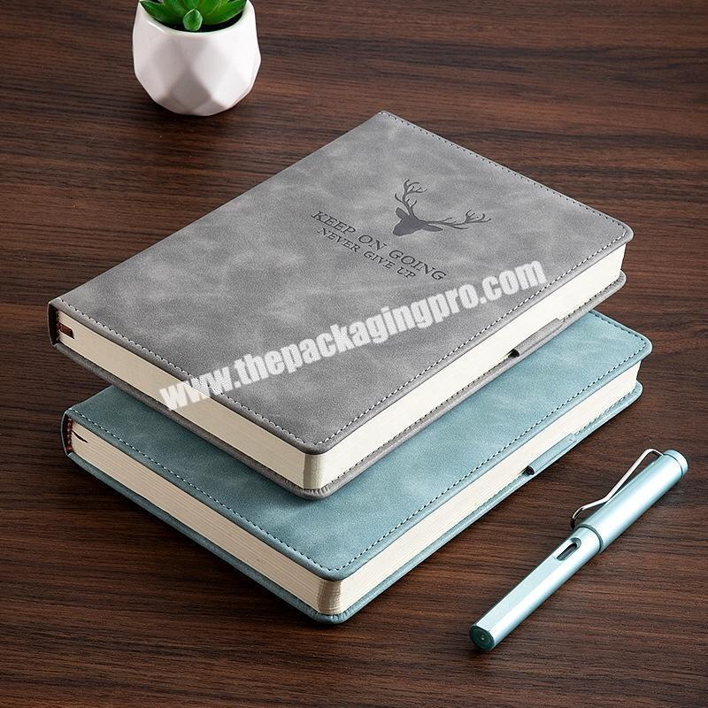 Custom Logo Engraved Embossed PU Leather Business Agenda Organizer Planner A5 Academic Weekly Diary Lined Hardcover Notebook