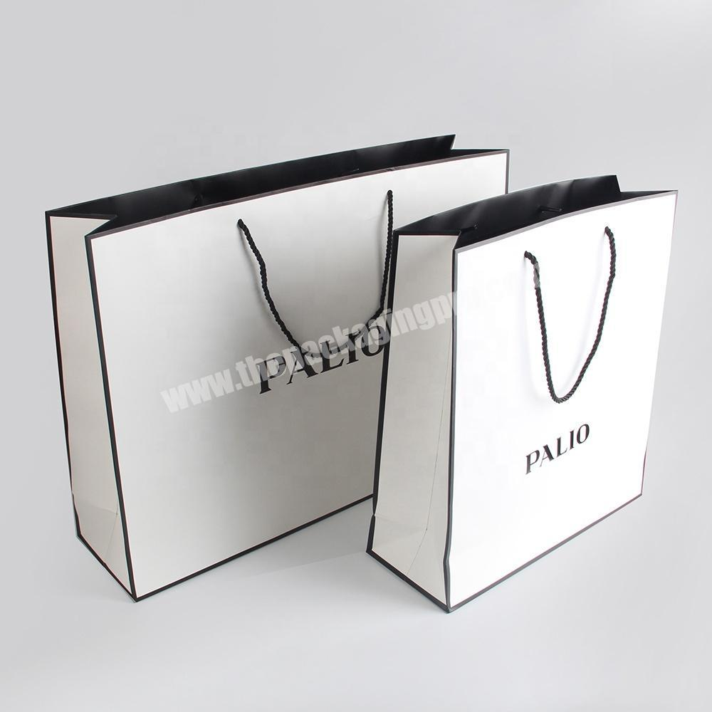 Custom custom logo fashion advertising paper bag rope handle