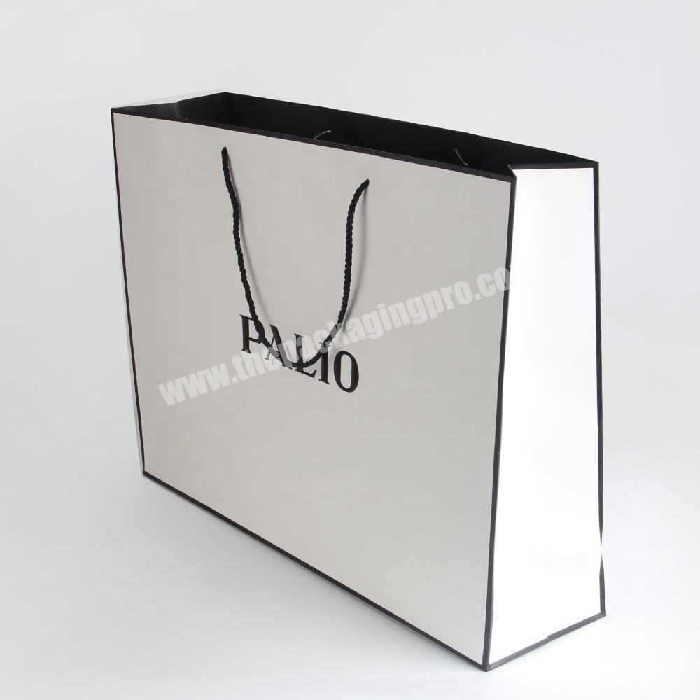 Manufacturer custom logo fashion advertising paper bag rope handle