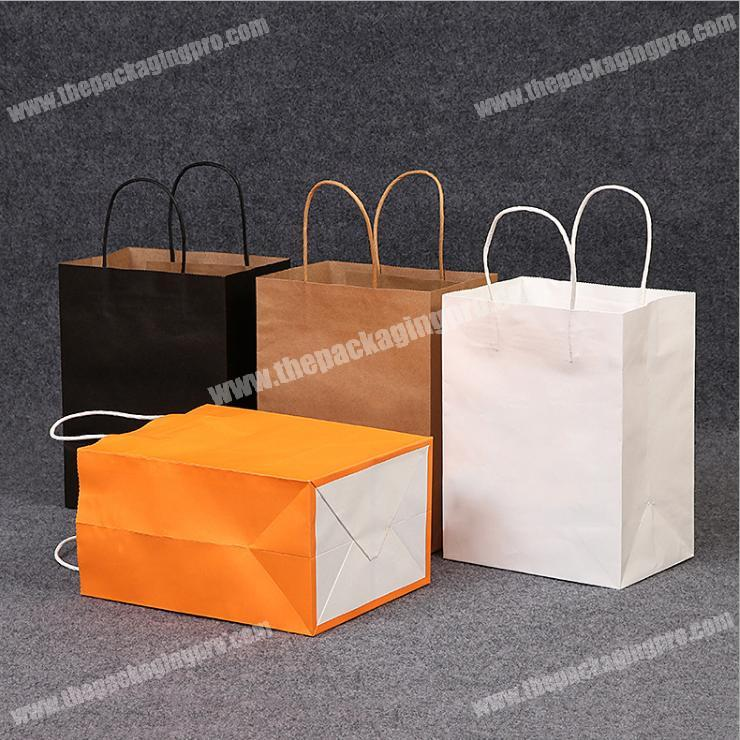 custom logo high quality new product paper bags with handles for food package bag
