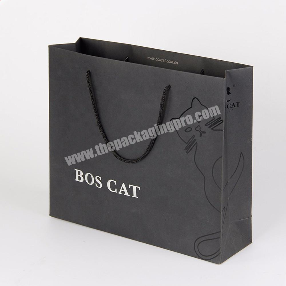 Custom custom logo large standard size paper shopping bag for suits