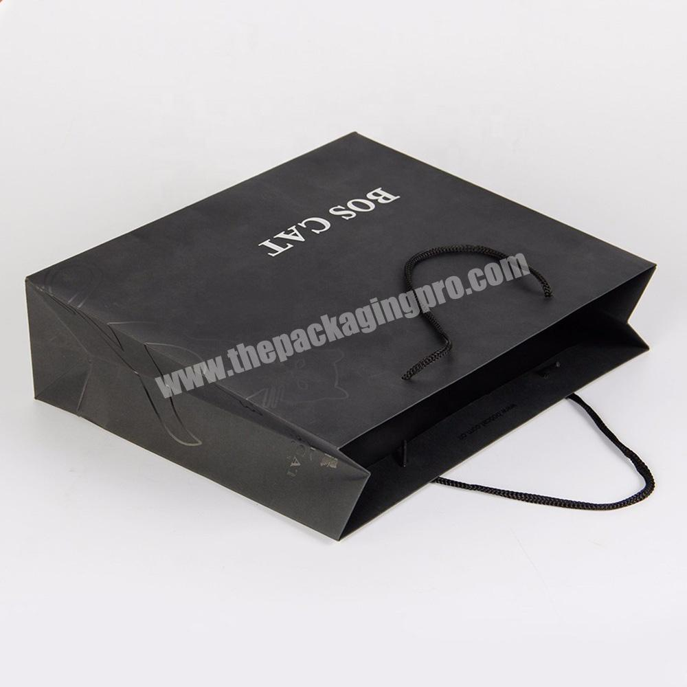 Supplier custom logo large standard size paper shopping bag for suits