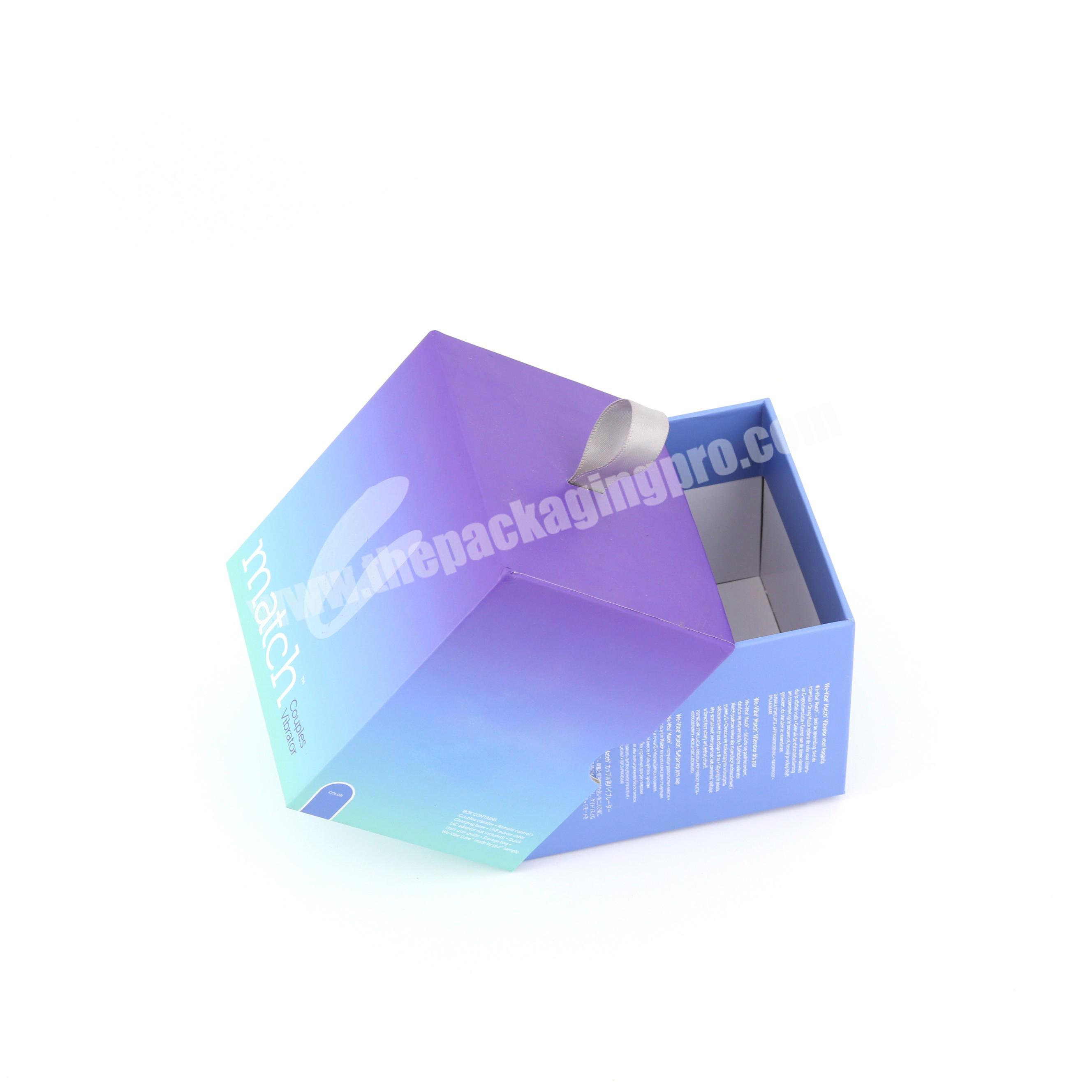 Custom logo lid packaging boxes wholesale adult product packing boxes with logo