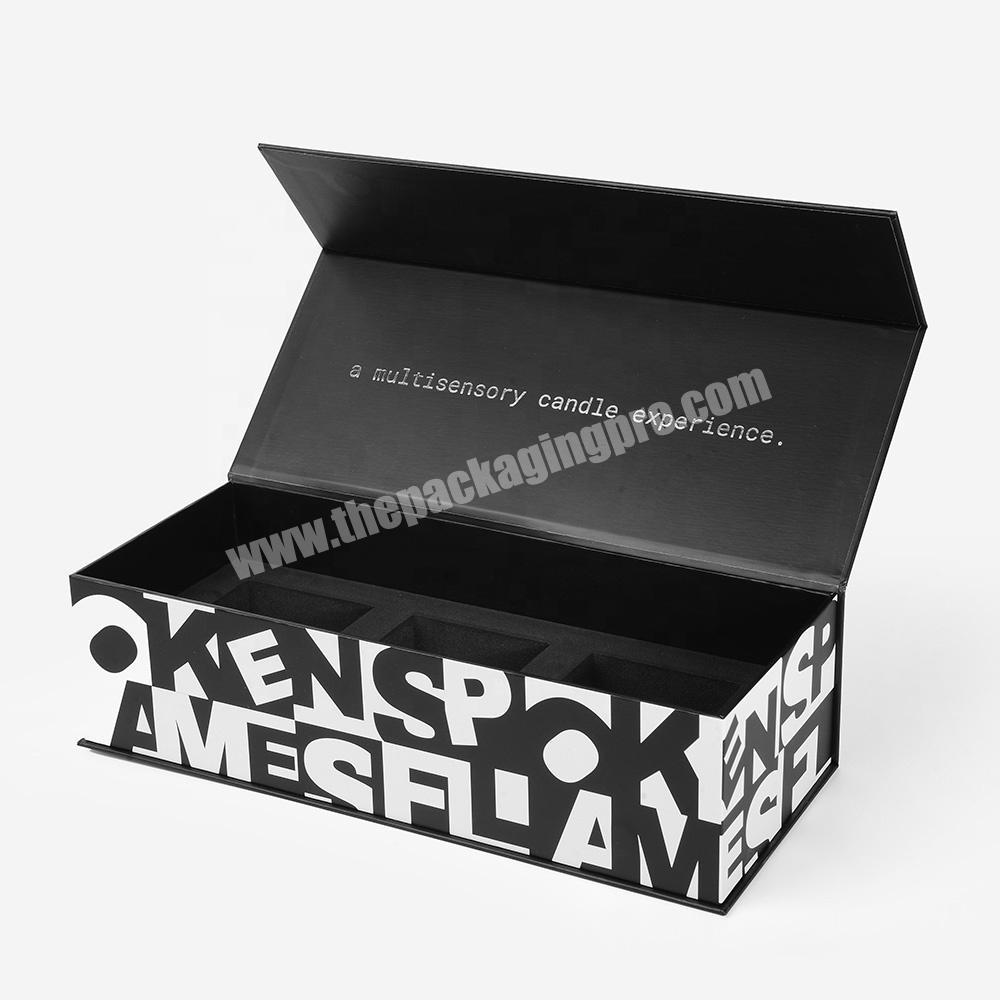 Custom Logo Plain Matte Black Luxury Rigid Paper Cardboard Flap Lid Cosmetics Premium Gift Magnetic Packaging Box