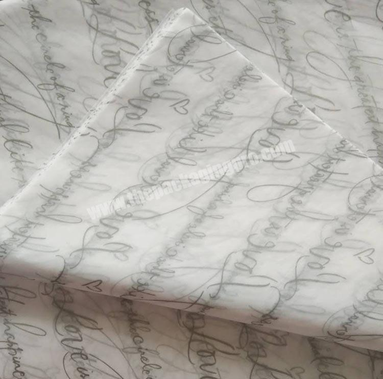 Custom Custom logo printed 1722gsm wrapping tissue paper printing tissue paper for clothes