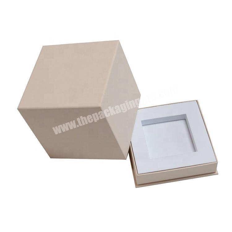 Custom Logo Printed Cardboard Paper Packaging Square Shaped Perfume Gift Box