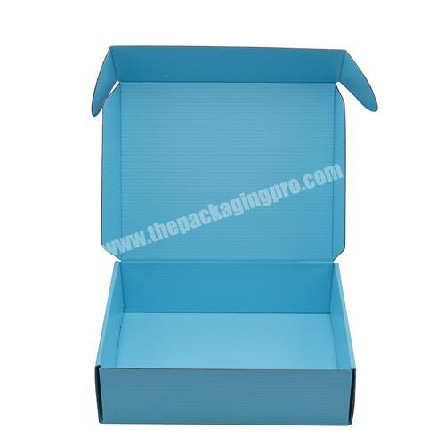 Custom Logo printed foldable packaging shipping paper box blue mailer corrugated boxes for gift packaging shoes books candy
