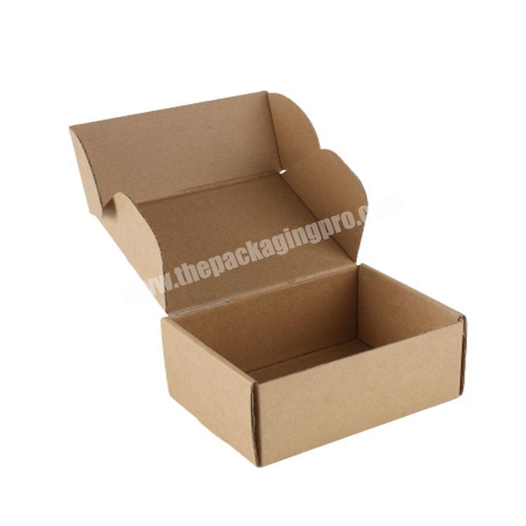 Custom LOGO Printed Mailer Shipping Carton Box Foldable Tuck End Postal Delivery Paper Corrugated Box