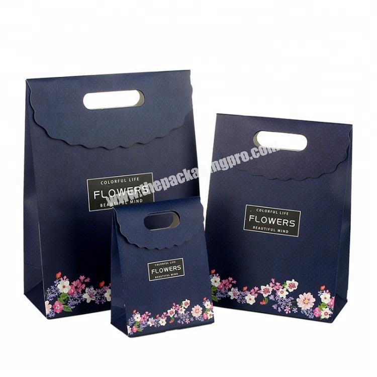 Custom Logo Printed Paper Bag With Handle For Party Gift Wedding Favors Candy Shopping Bags