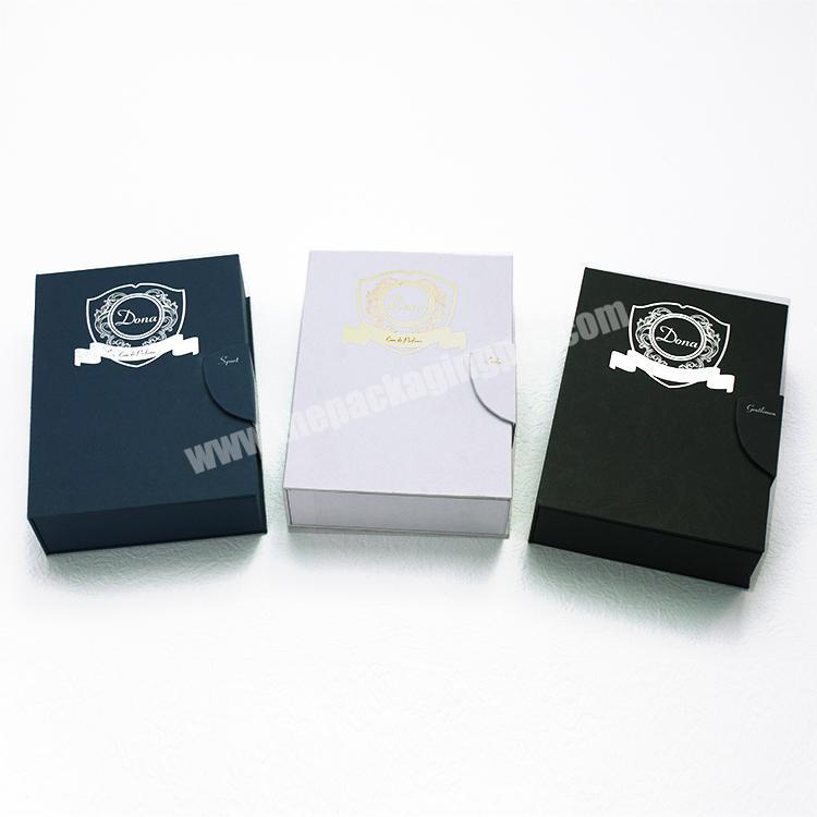 Supplier Custom logo printed perfume fragrance packaging cardboard display gift box with magnetic close
