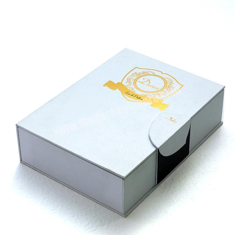 Manufacturer Custom logo printed perfume fragrance packaging cardboard display gift box with magnetic close