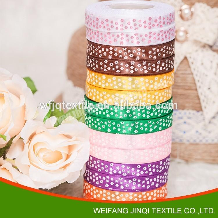 Custom logo printed ribbons for decoration