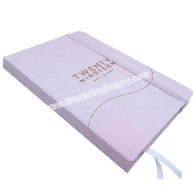 Custom Logo Printing A5 Size Hard Cover Weekly Diary Notebook New Premium Custom Planner With Gold Silver Foil Stamping