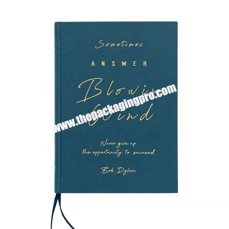 Custom Logo Printing A5 Size School Premium Recycled PaperJournal Writing Hard Cover Notebook With Gold Silver Foil Stamping