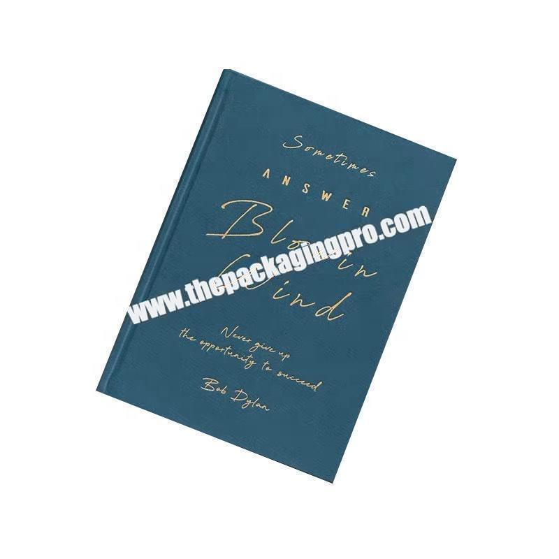 Manufacturer Custom Logo Printing A5 Size School Premium Recycled PaperJournal Writing Hard Cover Notebook With Gold Silver Foil Stamping