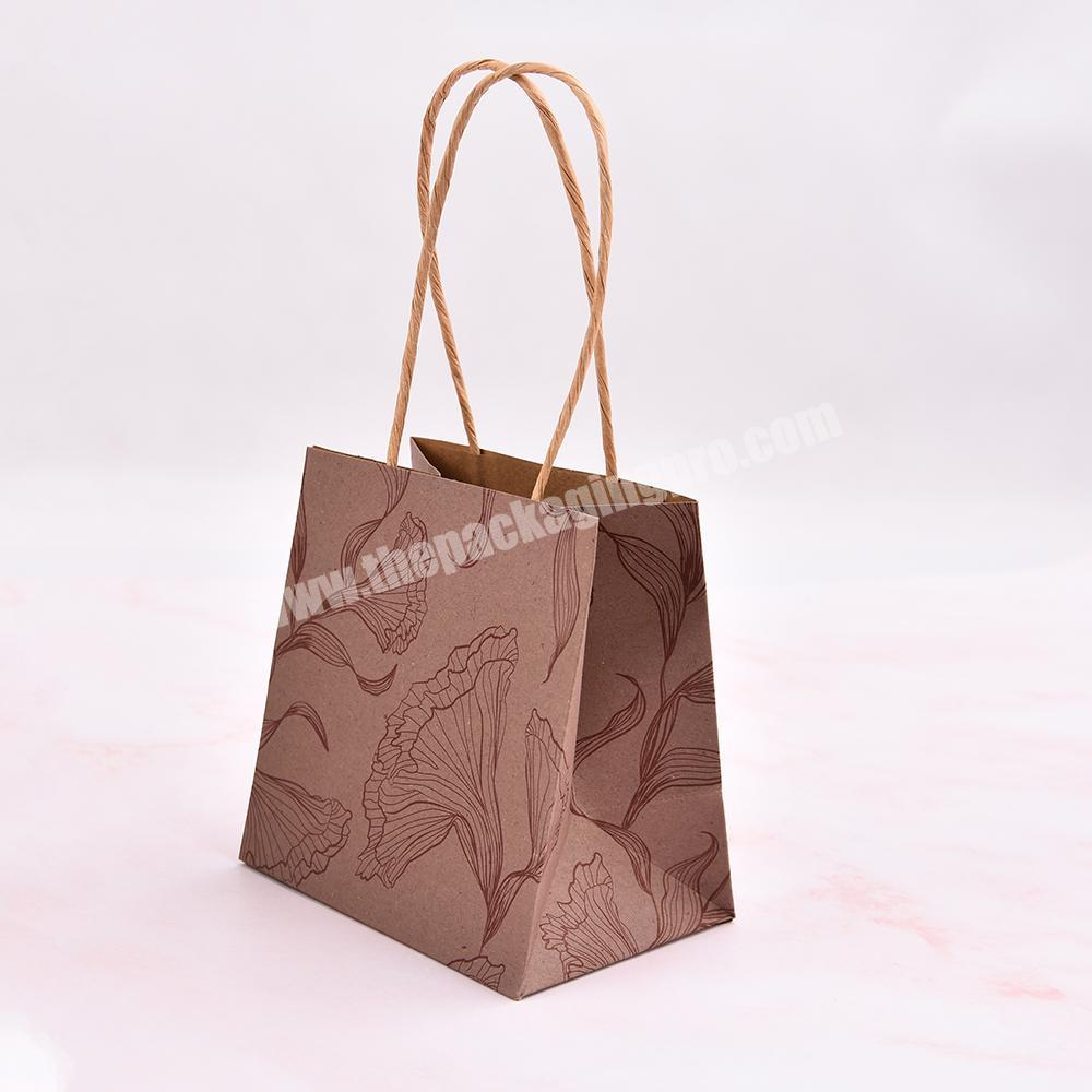 custom Logo wholesale  bag shopping gift bag kraft paper bag