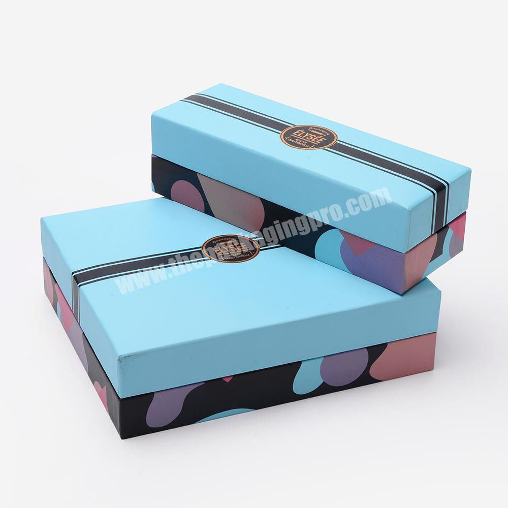 Custom Luxury Blue Sweet Candy Chocolates Blister Inside Package Cardboard Paper Carton Gift Box