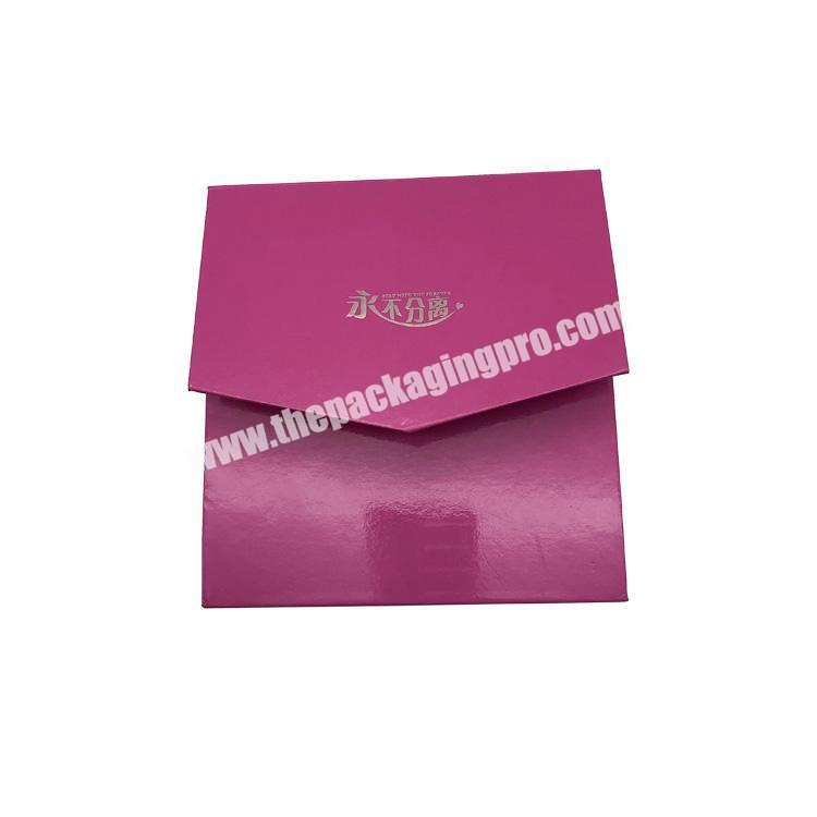 Custom luxury ecofriendly paper material magnetic closure wedding rigid gif box
