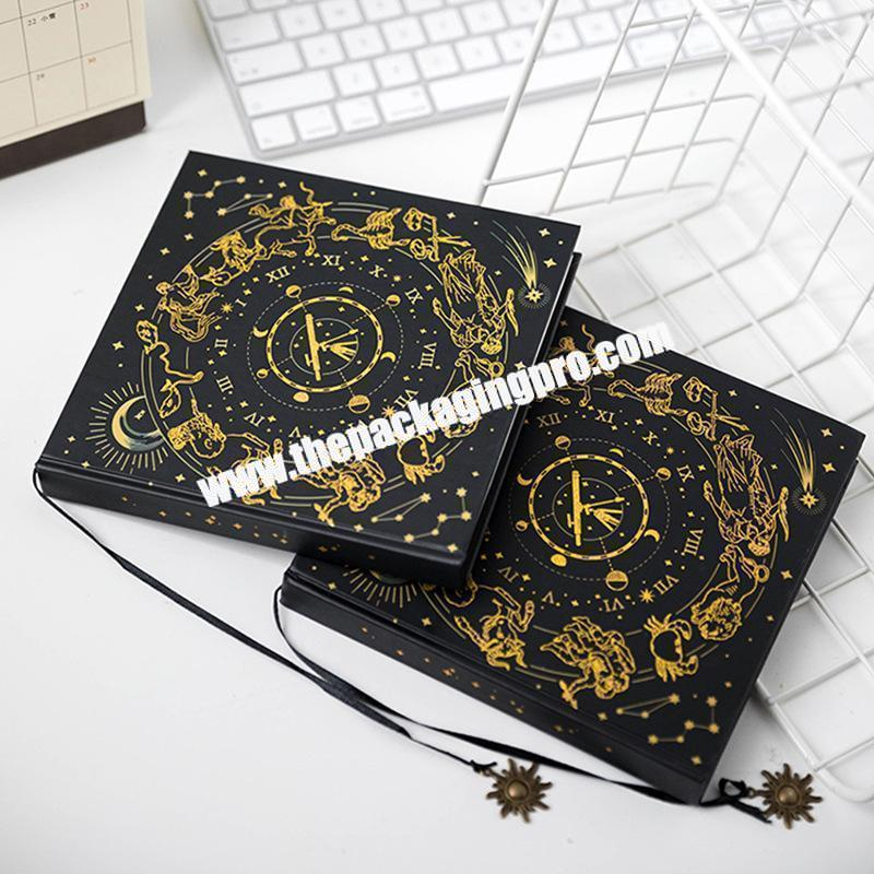 Custom Luxury Leather Bound Large B4 B5 A3 Sketchbook Sketch Book For Student Paper Hard Cover Notepad With Gold Logo Printing