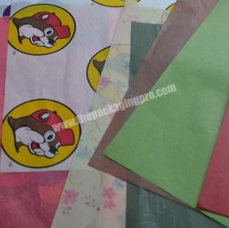 Supplier custom made copy paper tissue paper for wrapping wine bottle