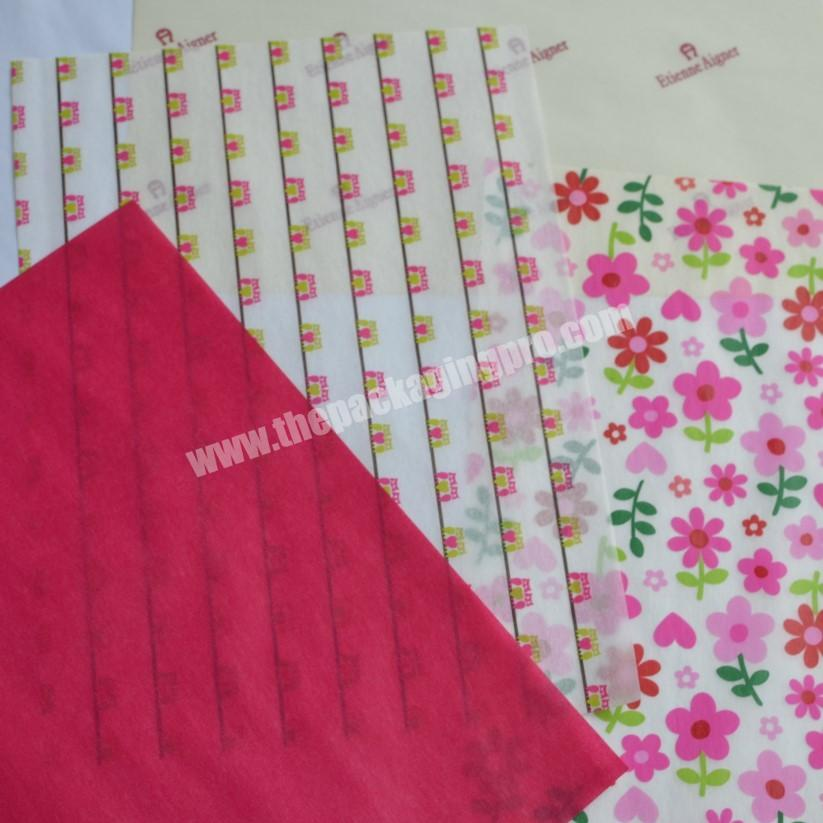 Wholesale custom made copy paper tissue paper for wrapping wine bottle