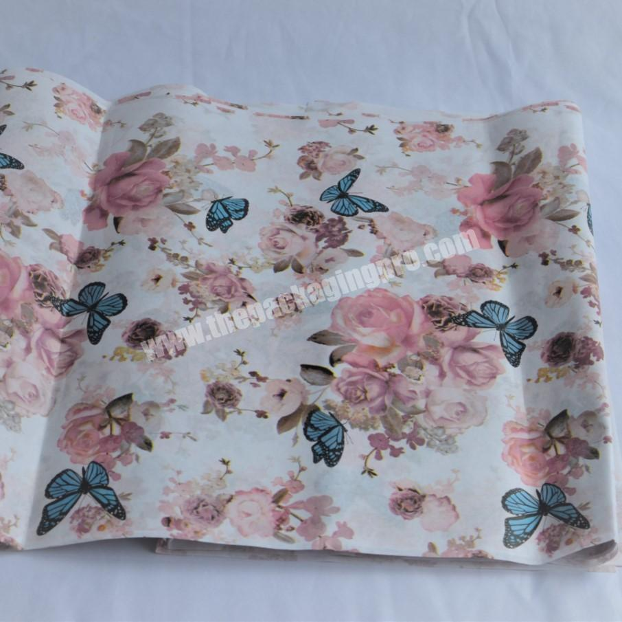 Factory custom made cotton paper 28 gram tissue paper and wrapping paper